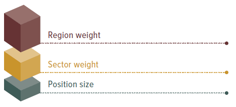 Region Weight, Sector Weight, Position Size